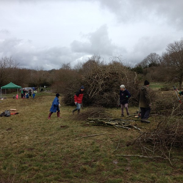 Family volunteer bonfire party 2014